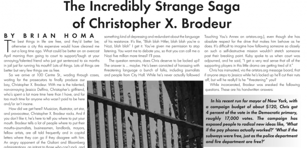 """Boog City 33, May 2006 Available featuring: ***Our Music section, edited by Jonathan Berger*** """"The question remains, does Chris deserve to be locked up? The answer is Š maybe. He¹s […]"""