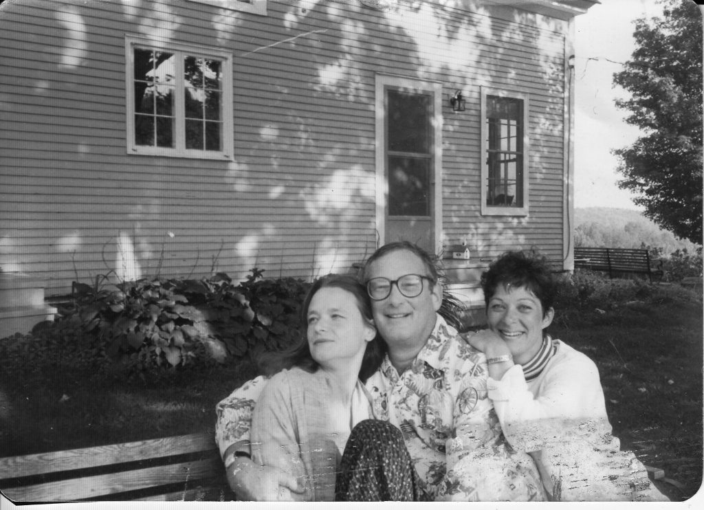 Anne Waldman, Kenward Elmslie, and Ann Lauterbach, circa 1981, at Kenward's house in rural Vermont, where Anne was a guest on multiple occasions. Probably Joe Brainard photo.