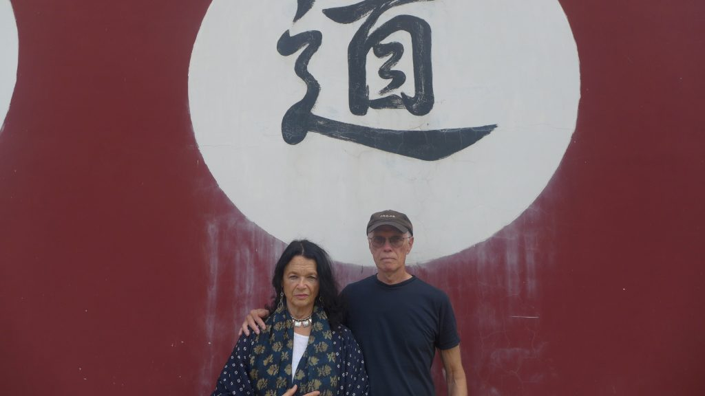 Anne Waldman and Ron Padgett in Jianshui, China, Sept. 2015, during a side tour after a poetry conference organized at Kunming Normal University by the poet (and their friend) Yu Jian.