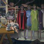 "Dollmaker, 28"" x 36"" oil on canvas"